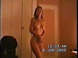 First mature striptease homemade