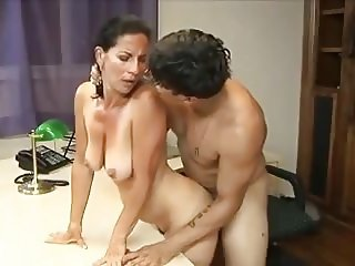 Very Horny Mature Gets Cock In The Office
