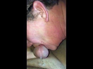 Wife loves sucking and licking cock for cumshot.