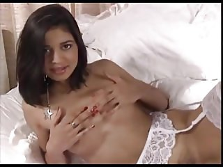 Indian Wife In Sexy Stocking Striptease Show