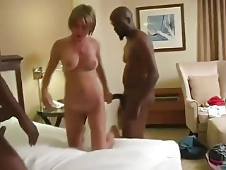 Hot Interracial Threesome
