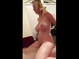 hot bigtits wife riding and grinding - boltonwife