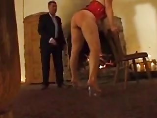 Collared slave whipped and feeling