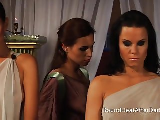 Voyeur Mistress Watches On Lesbian Slaves In Orgy