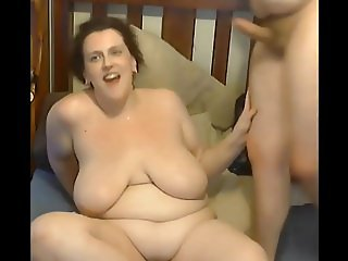 bbw gets cum dripped all over her and with slowmo