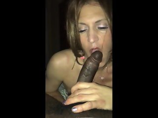 Real Post-Acceptance BBC Worship Fun for White Sissy Boi Transitioning