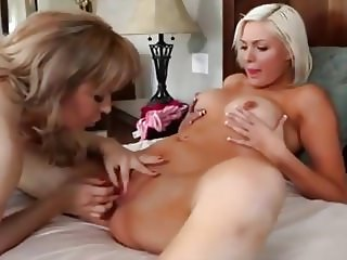Lesbian cougar and her kitten
