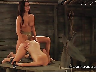 The Submissive: Rough Strap-on Doggystyle Pounding
