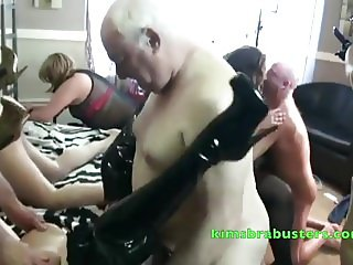 Granny Kims at a swingers party