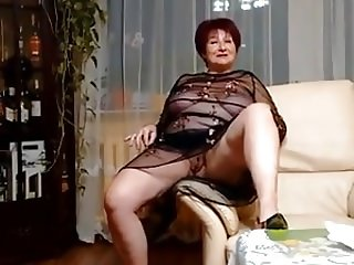 Sexy Amateur Polish Granny Shows Off For Her Hubby