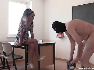 SweetBaby Style - German Mistress Knows How to Spank guy