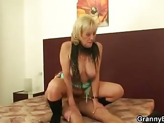 Old granny prostitute please young client