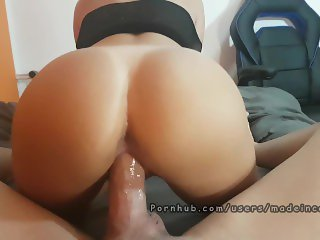 Multiple cumshot. Creampie and ruined orgasm. Made in Canarias
