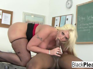 Hot teacher Kelli gets an interracial fuck from her student