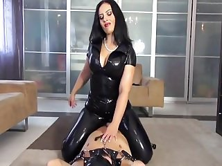 latex mistress ruined orgasm cum control