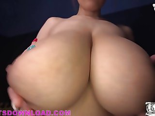 Busty asian with gigantic tits