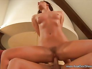 Crazy Gaping Anal Brunette Housewife