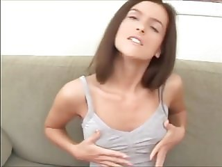 Petite Brunette With Small Tits
