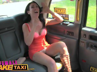 Female Fake Taxi Sweaty hot lesbian bushy pussies finger fucked to orgasm