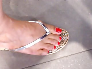 indian candid feet