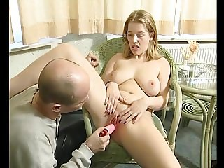 Young girl shows uncle wht she does when shes alone