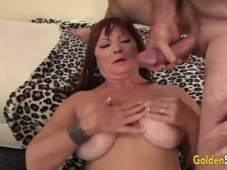 Mature Hoochie Banged by a Goateed Guy