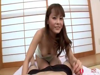 Cute Tiny Japanese Teen riding hard