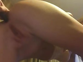 amateur blonde toying her ass