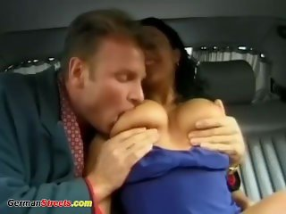 busty german in wild backseat fuck