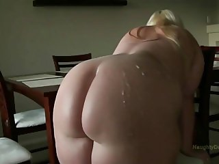 A BBC unloads on her fat ass