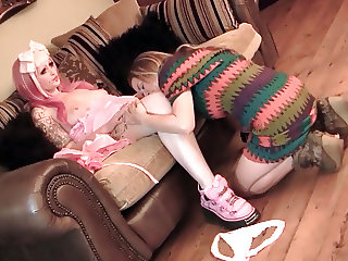 Tinkerbell plays with realistic surprise erotic sexual doll