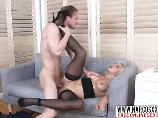 Fearful Daddys Lil Girl Kylie Page In Stockings