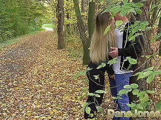 Dane Jones Sexy young Russian babe gives public blowjob