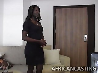 Black hottie blowing monster dick