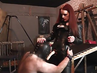 Strap-On Domination - Mistress Rebekka Raynor fucks slave