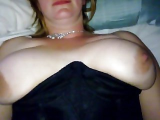 UK wife with big tits, fingered and fucked