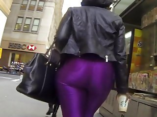 Fat big ass in tight spandex black girl