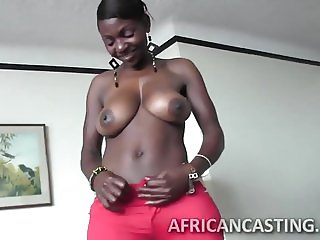 African cutie loves riding cock