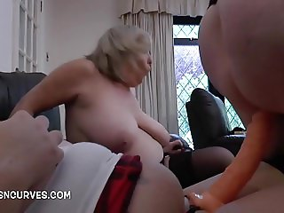 Two old lesbians doing a young girl