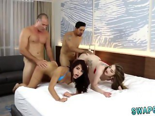 Mom and crony's daughter ass fucked first