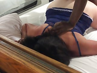 Plump wife getting bbc doggy