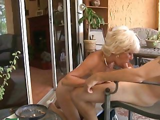 Big tits nudist grandmother and grandson