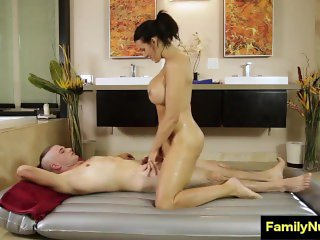 Mom and son sex massage