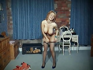 QUEER - vintage big tits strip dance tease in stockings