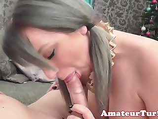 Amateur babe cocksucking till cum in mouth