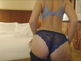 Amateur Strips In Hotel Room