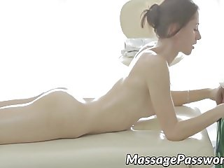 Hot natural tits Aruna getting her asshole and pussy owned
