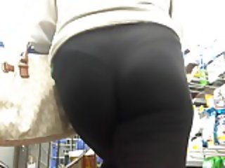Panties Wedged in Tight MILF Ass