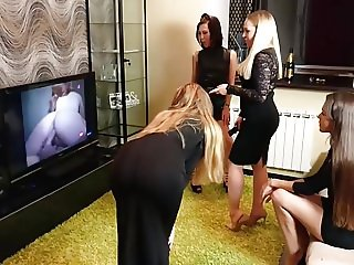 Lesbian Party With 4 Girls