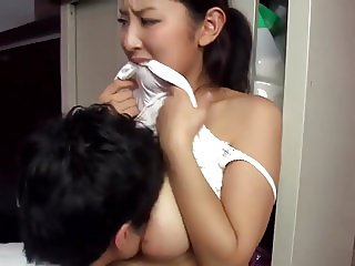 Hot japanese married neighbour teasing me
